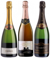 "Diverse Weingüter – 3er Probierpaket ""Sparkling around the World"""